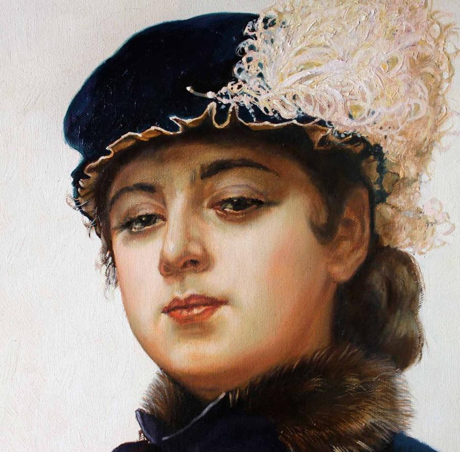 крамской -женщина в шляпе