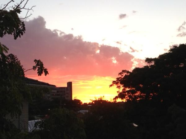 Sunset Blick vom Appartment