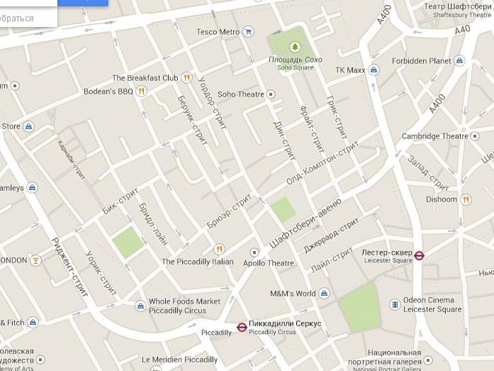 Лондон, карта жж