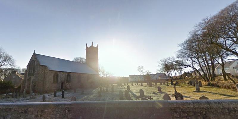 Девоншир,-церковь,-кладбище