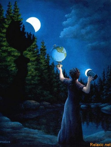 Фазы Луны. Rob Gonsalves