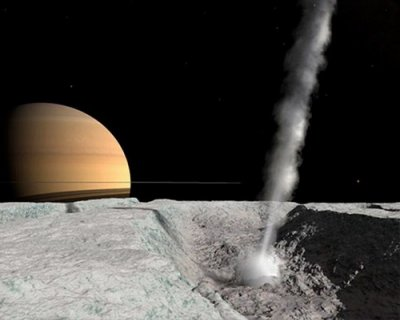Энцелад и Сатурн