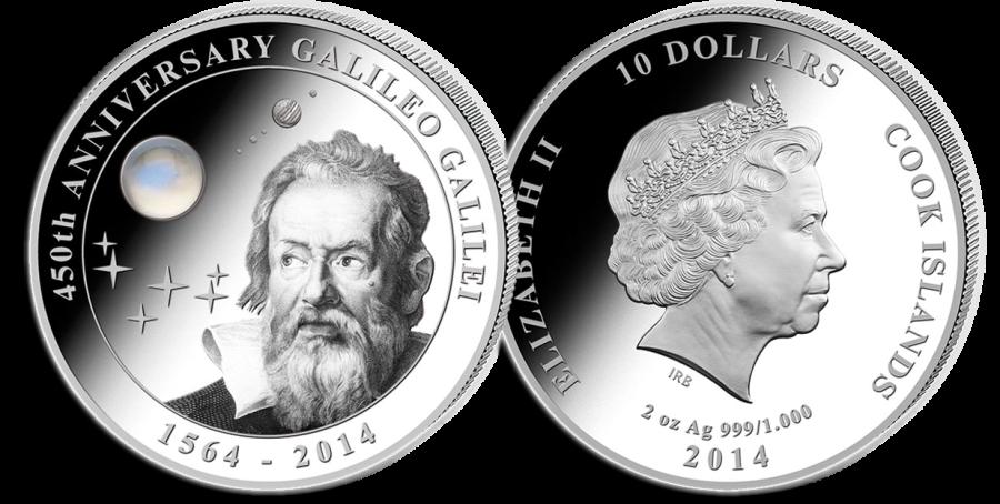 Монета к юбилею Г. Галилея