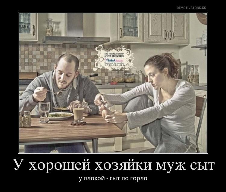 демотиватор муж домашних