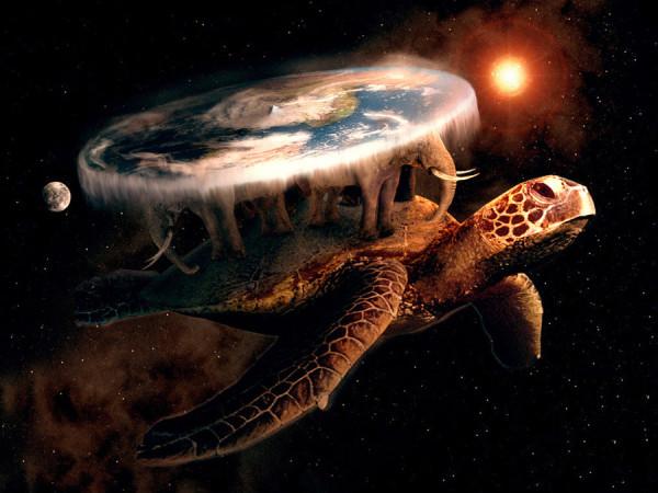 Земля на черепахе и слонах