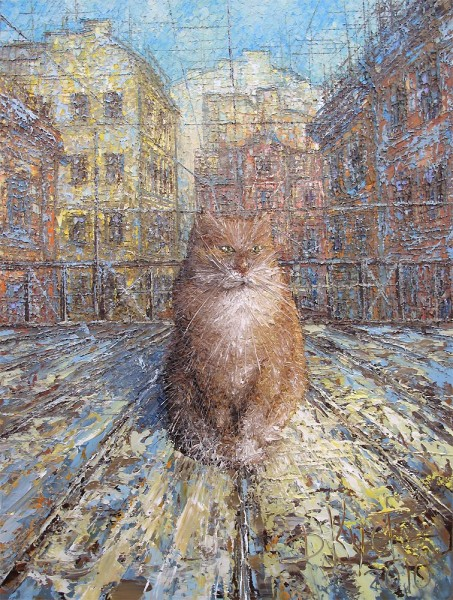 Д. Кустанович. Рыжий питерский кот