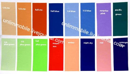 rosco gel color strobist конверсионные фильтры гели для фотовспышек
