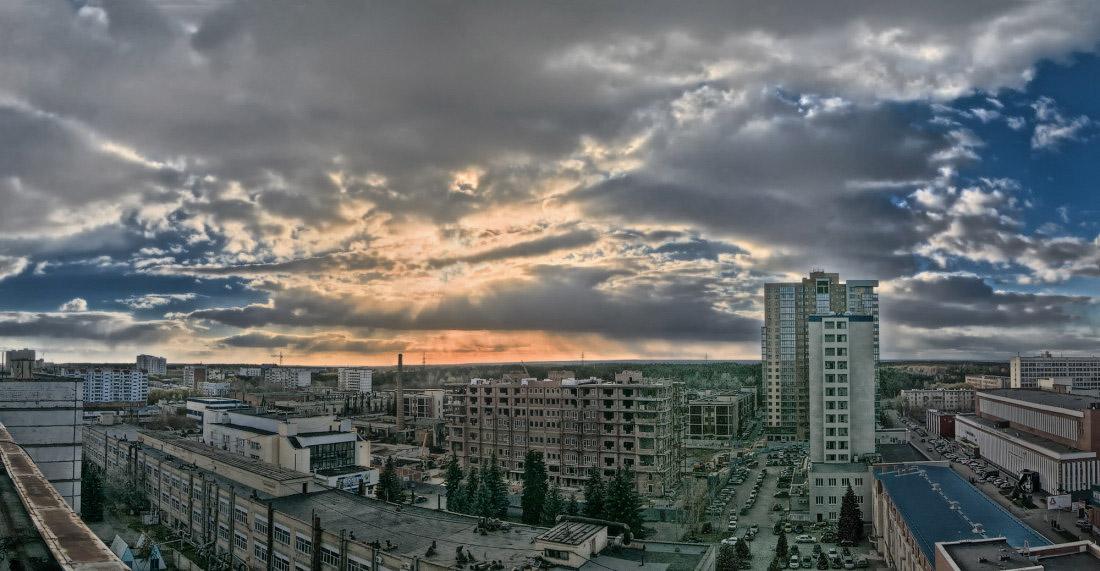 Фотограф Челябинск HDR Закат над городом