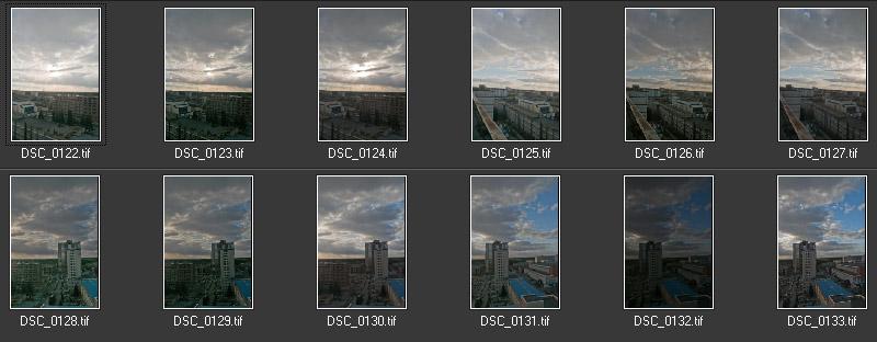 Фотограф Челябинск HDR Закат над городом гистограмма Панорама