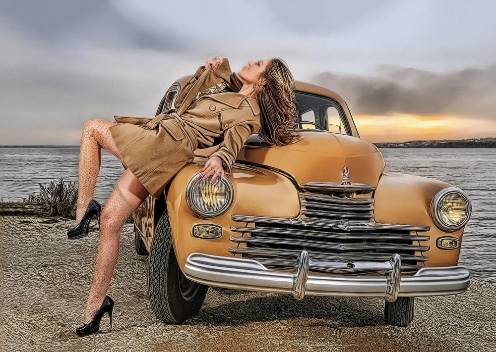 фотограф Челябинск, strobist, стробизм, ретро авто Челябинск