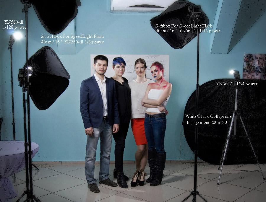 фото визажист фотограф Челябинск стробизм мастер-класс