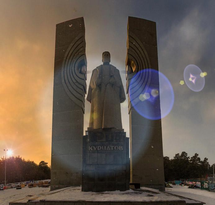 fotografo Chelyabinsk monumento Kurchatov