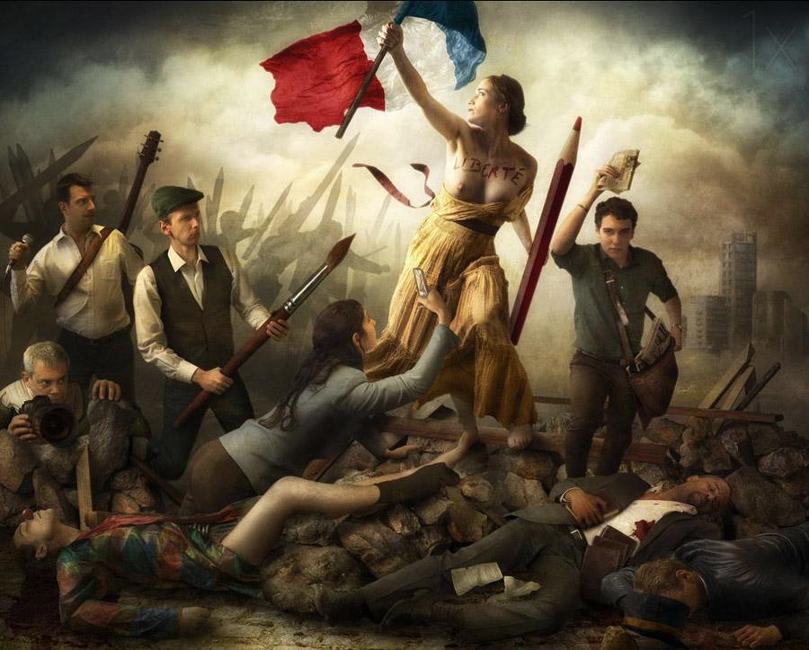 Я Шарли - свобода топлесс в фото-римейке от Christophe Kiciak