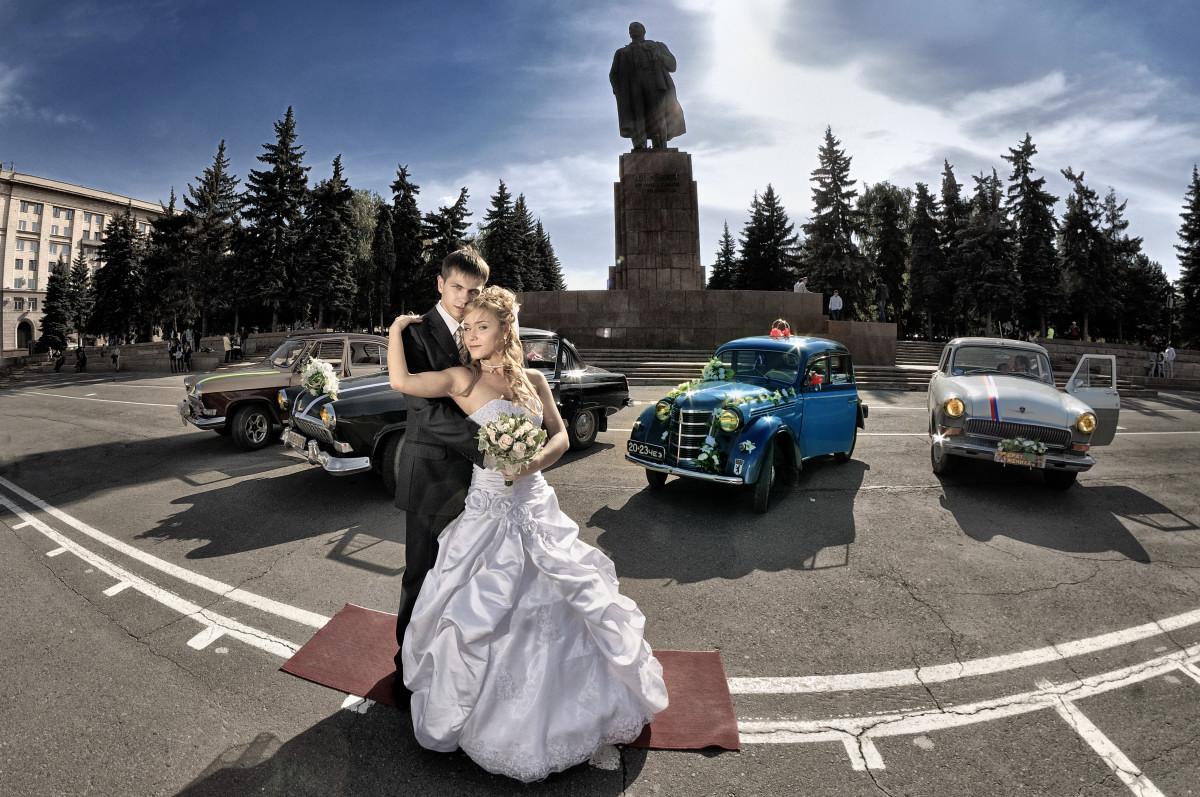 свадебный фотограф Челябинск потрет стробизм ретро авто