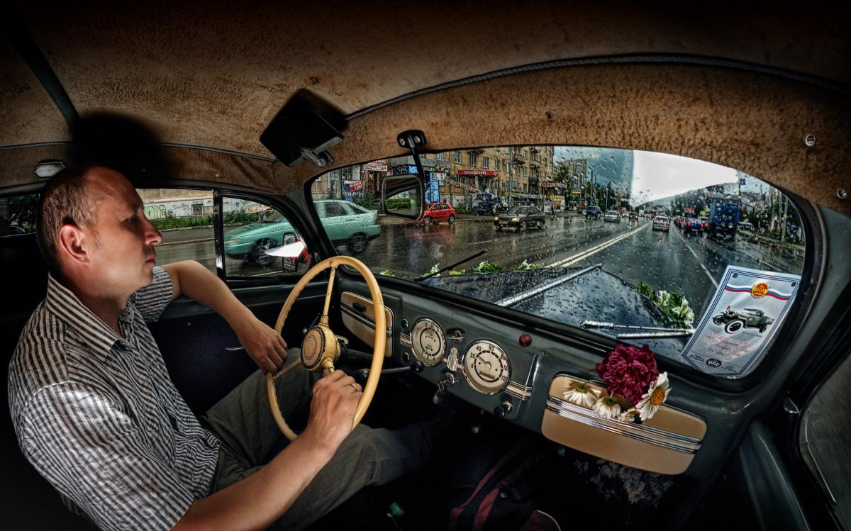 фотограф Челябинск потрет стробизм opel cadett салон