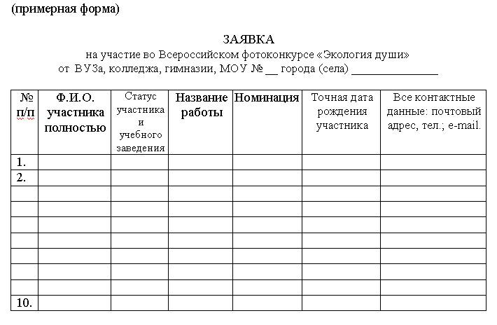 Всероссийский фотоконкурс  школьной и студенческой фотографии «Экология души»