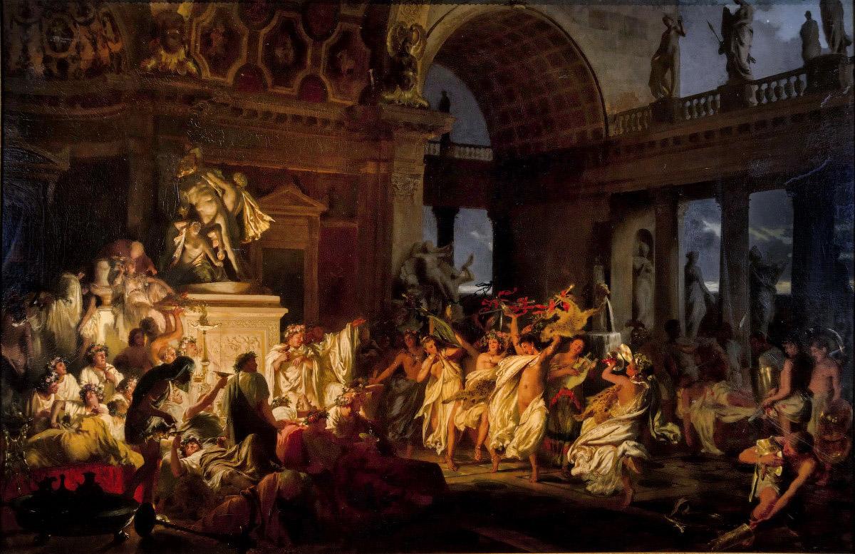 Генрих Семирадский Римская оргия блестящих времен цесаризма