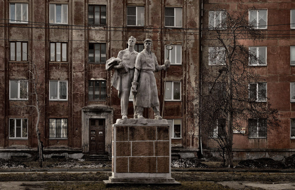 фотограф Челябинск шоссе металлургов скульптура Металлурги