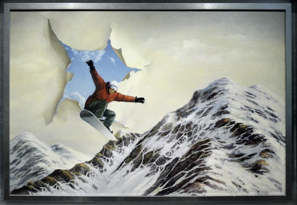 Никас Сафронов в Челябинске. Экспозиция картин 001