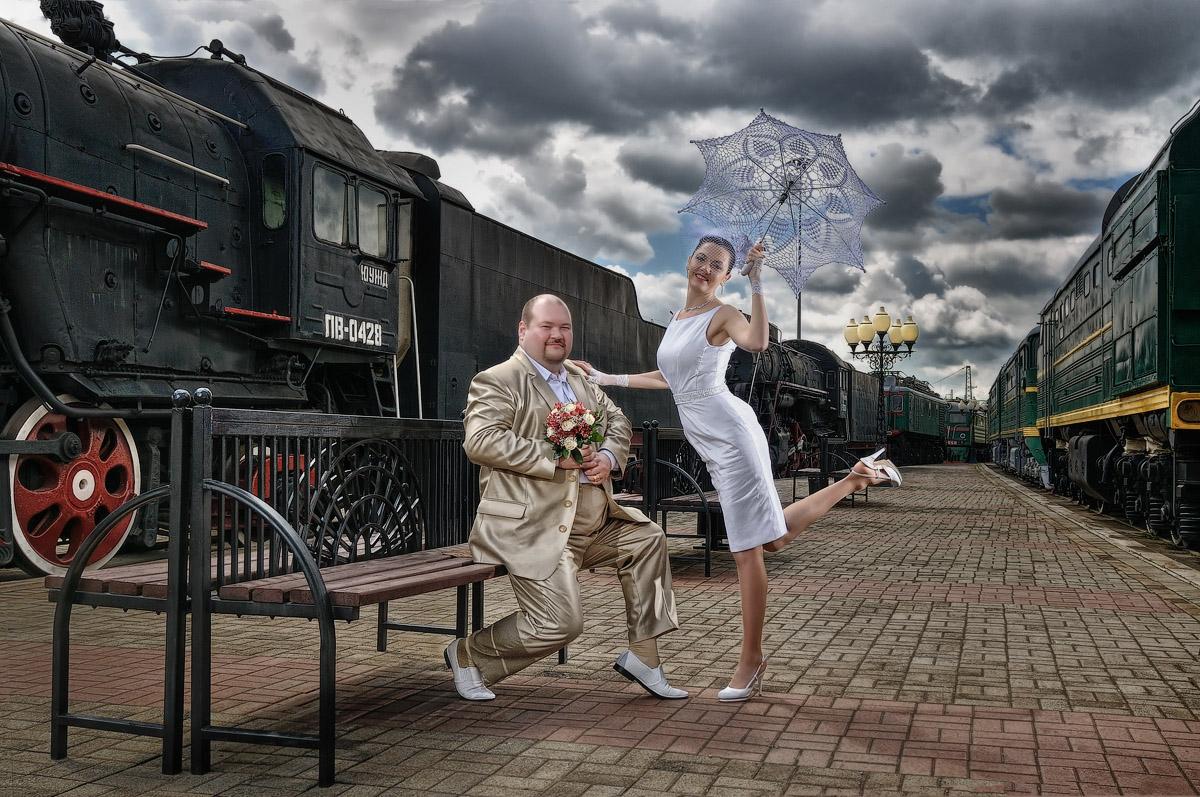 Картинка свадебный паровоз