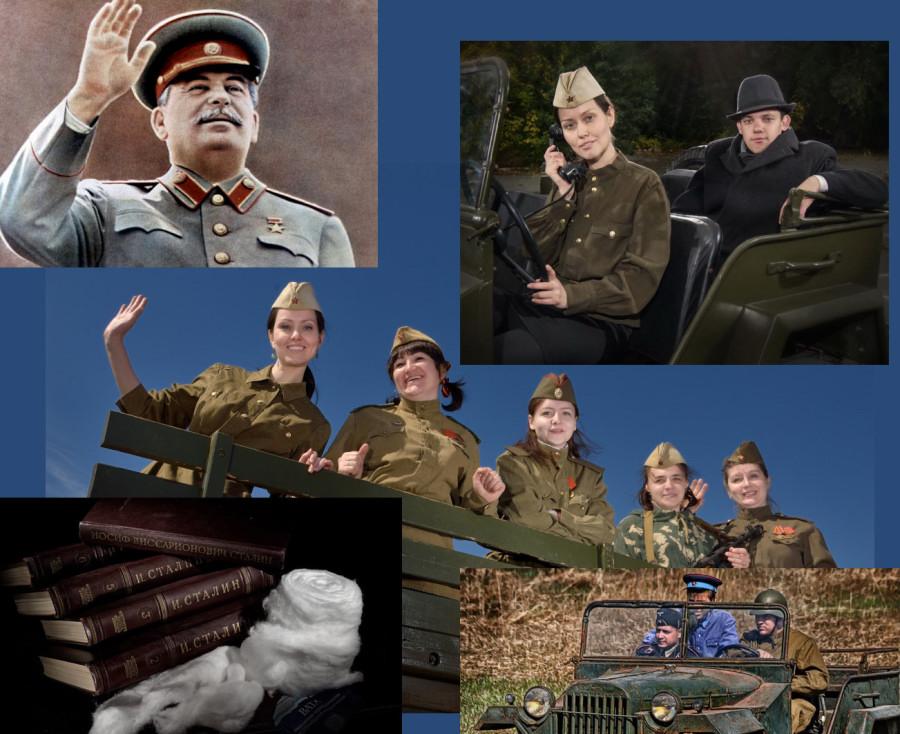 Фотография с двойником Сталина в Челябинске