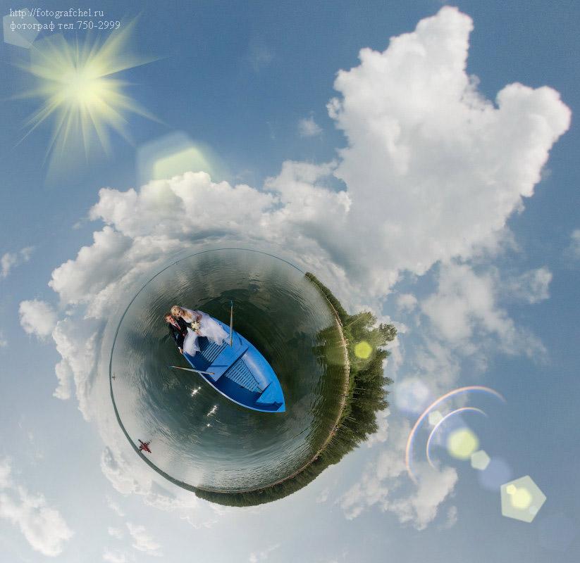 свадебный фотограф Челябинск - свадебная планета и шлюпка в океане любви
