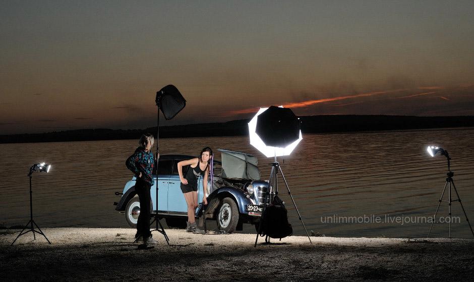 стробизм на закате фотограф челябинск стробист
