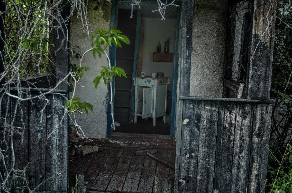 Картина найдена в заброшенном садовом домике - фотограф Челябинск5277