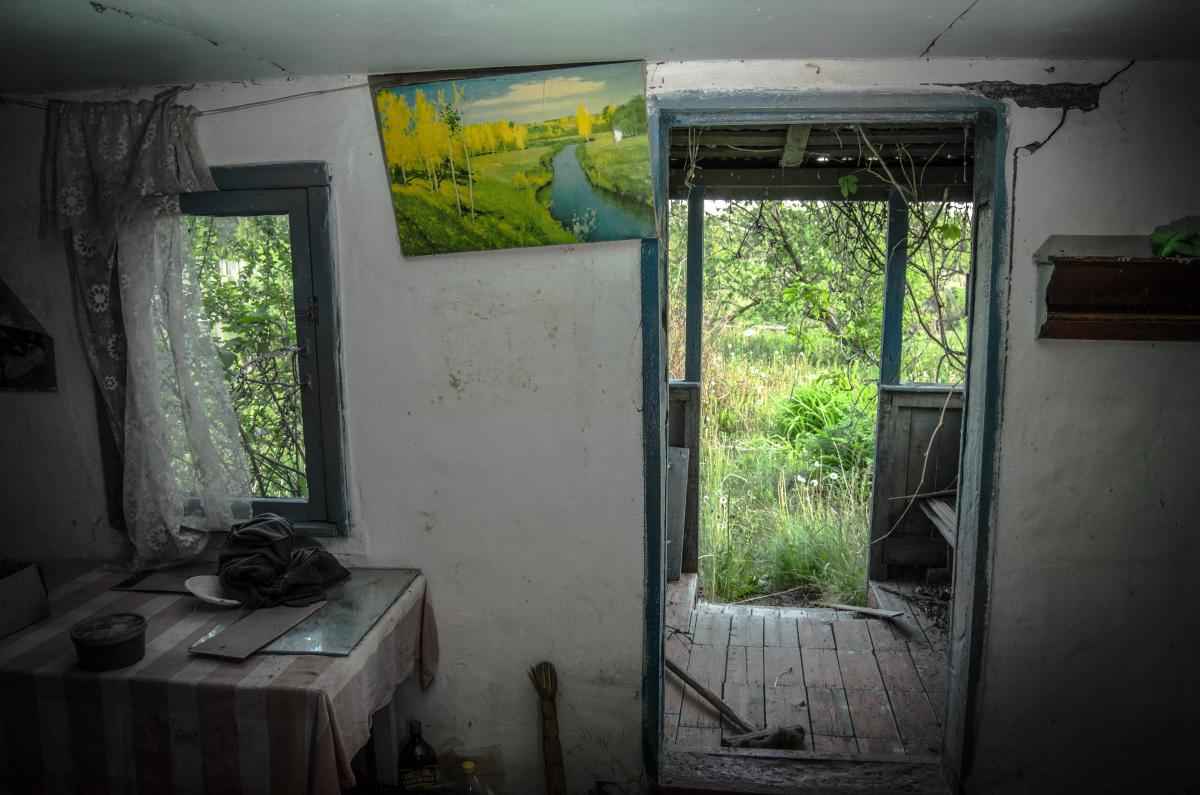 Картина найдена в заброшенном садовом домике - фотограф Челябинск5282