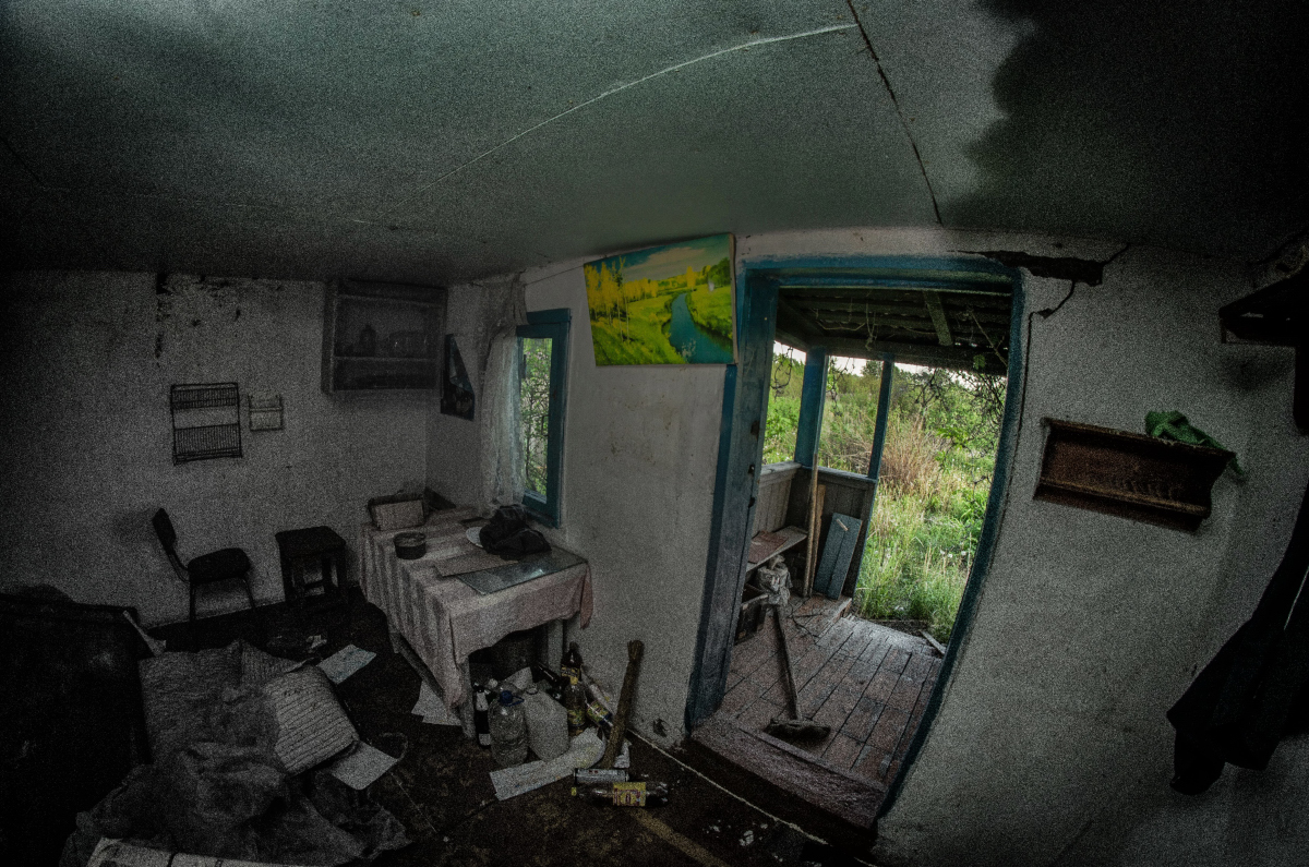 Картина найдена в заброшенном садовом домике - фотограф Челябинск5287
