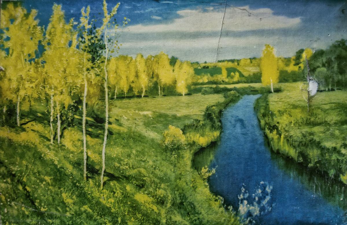 Картина найдена в заброшенном садовом домике - фотограф Челябинск5291