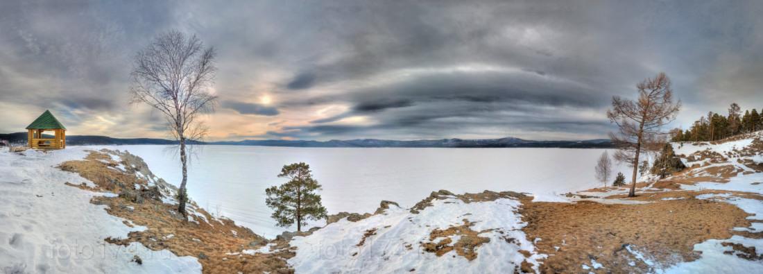 фотограф Челябинск закат панорамный на исходе зимы