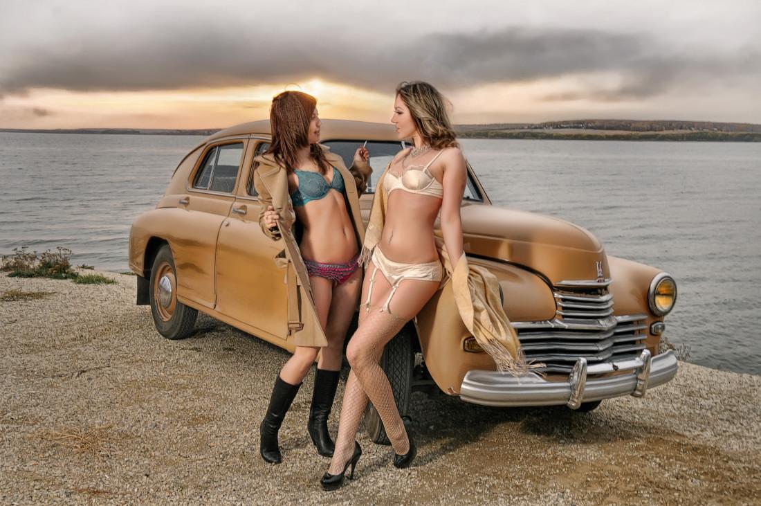 фотограф Челябинск закат стробист гламурный закат с ретро акцентом