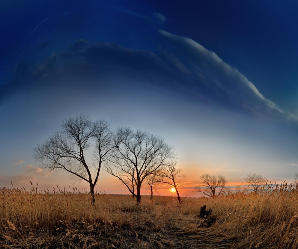 апрельский закат в средней полосе России фотограф Челябинск