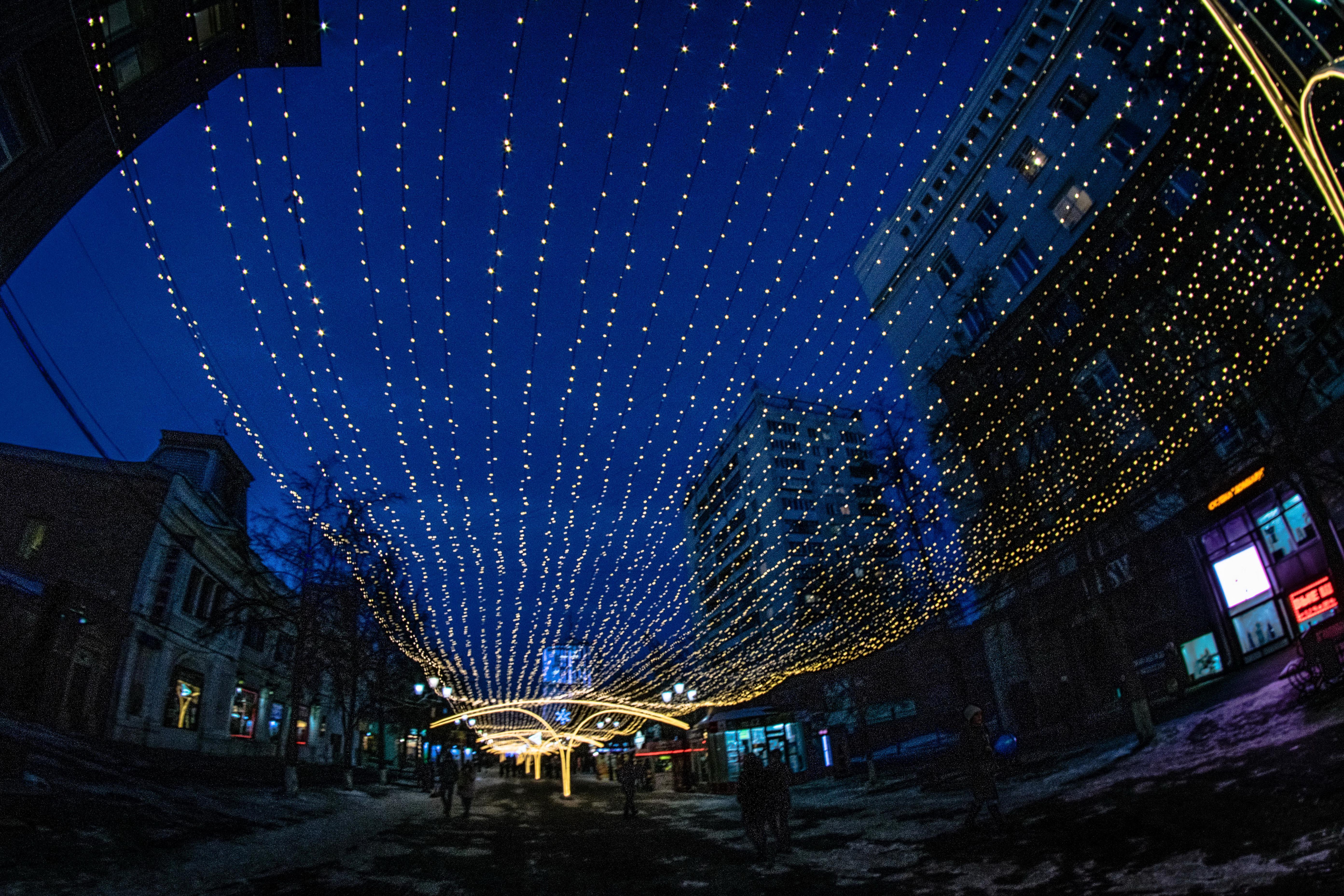 Челябинск, праздничная иллюминация ул. Кирова, пешеходная часть_8399