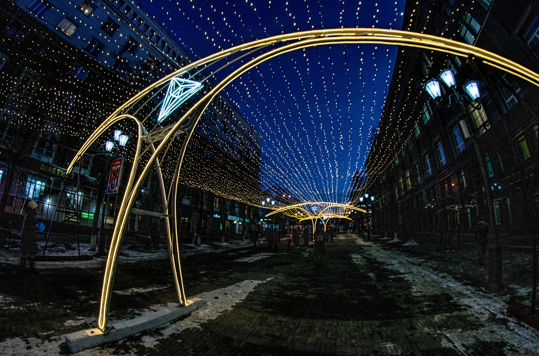 Челябинск, праздничная иллюминация ул. Кирова, пешеходная часть_8400