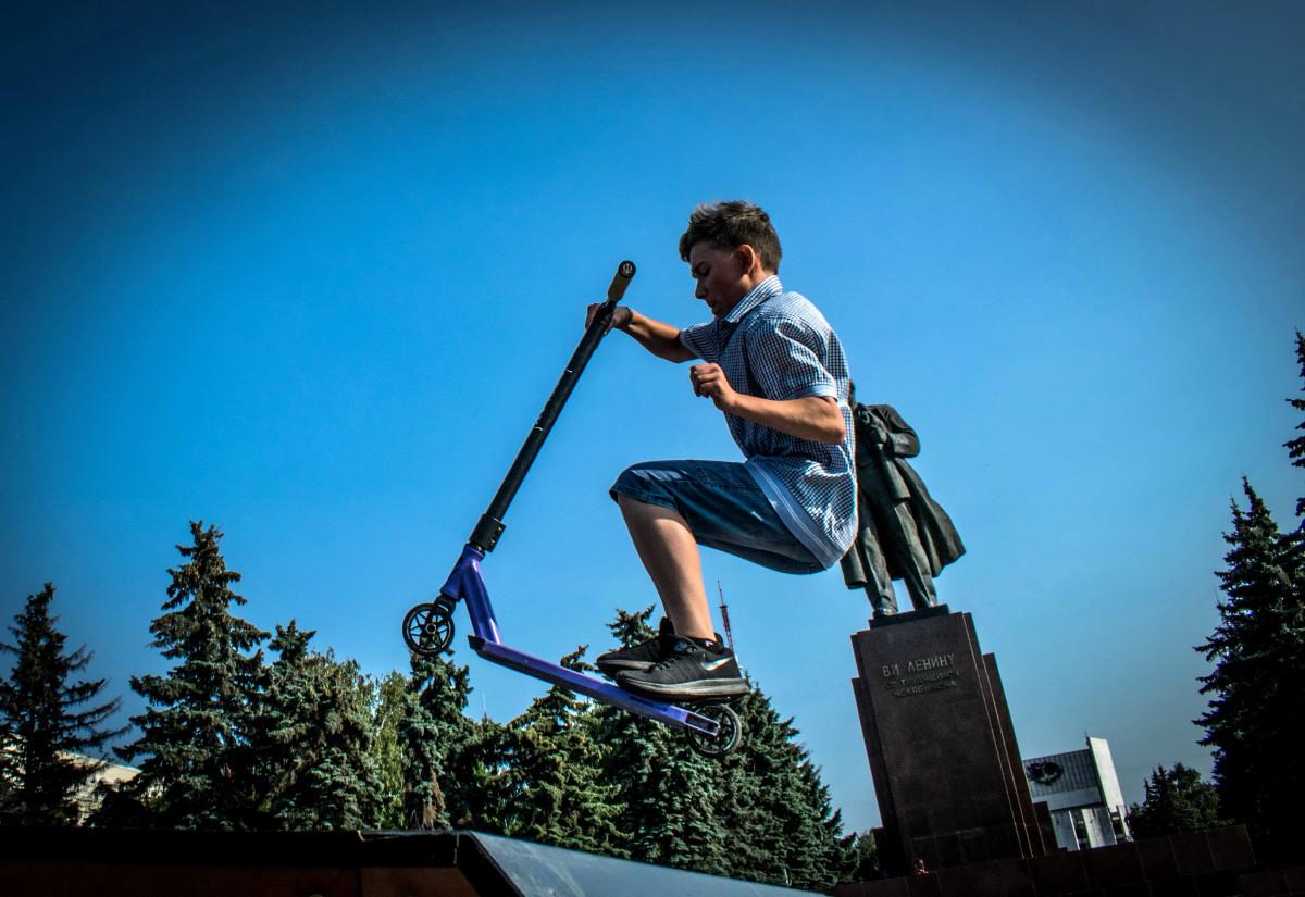 фотограф Челябинск  площадь Революции - велосипедный экстрим 9745