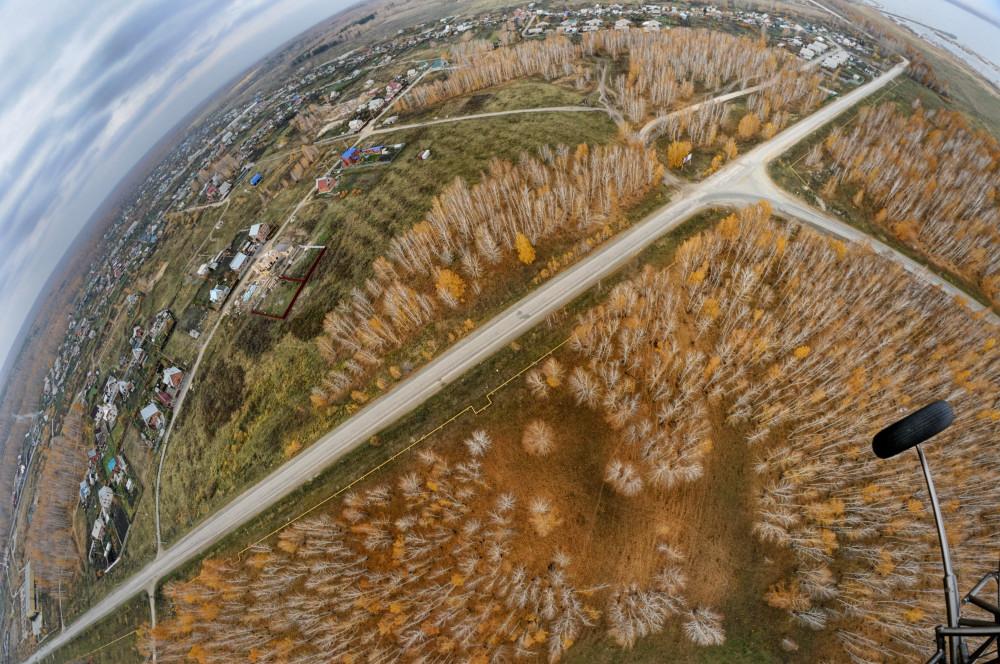 полет на параплане поздняя осень