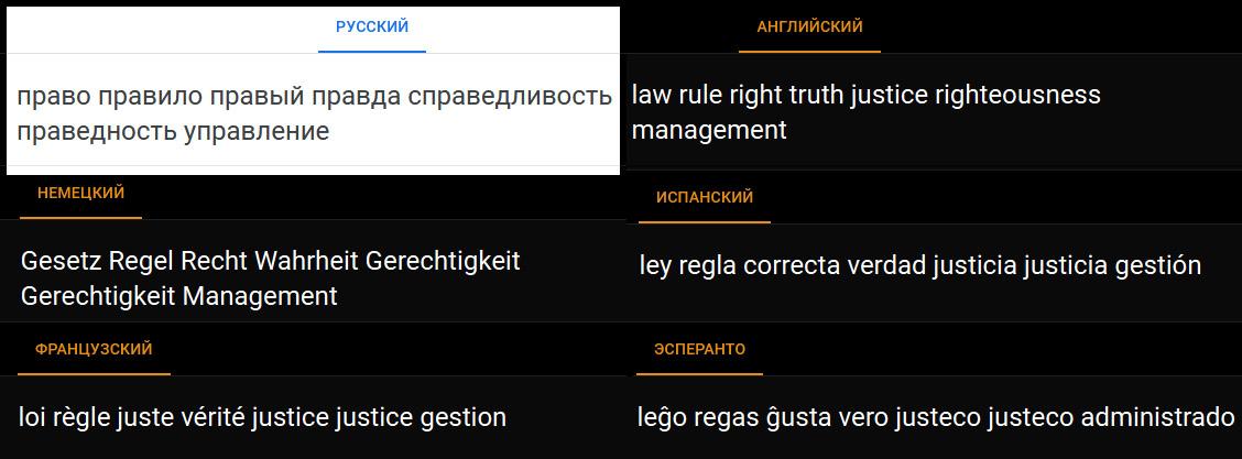 Справедливость - понятие, которое есть только в Русском Языке. В европейских такого понятия нет!