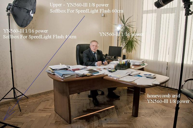 Бизнес – потрет на основе света YN560-lll