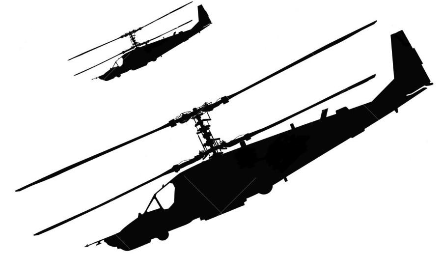 14518289-russian-ka-50-black-shark-hokum-a-attack-helicopter-silhouette-vector
