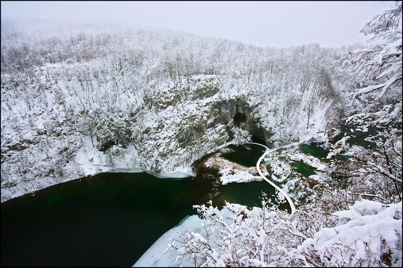 Плитвицкие озера зимой-12