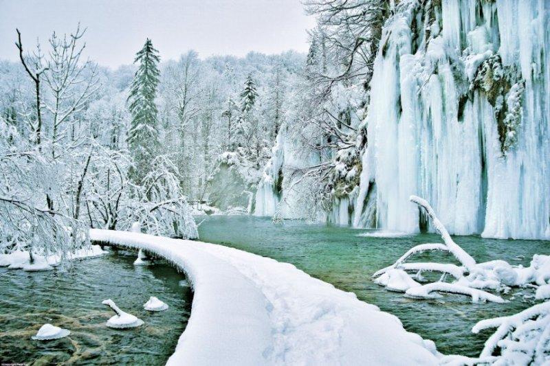 Плитвицкие озера зимой-9