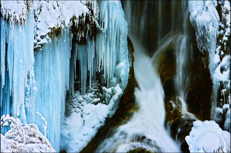 Замерзший водопад на Плитвицких озерах- 11