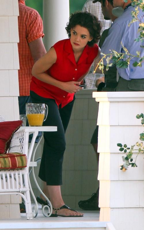 Katie Holmes as Jackie Kennedy Onassis