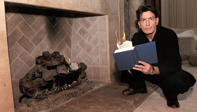 HELLRAISING actor CHARLIE SHEEN met The Sun yesterday - and told how