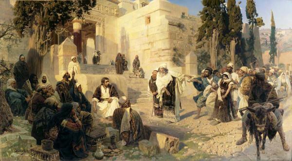 Василий Поленов, «Христос и грешница»