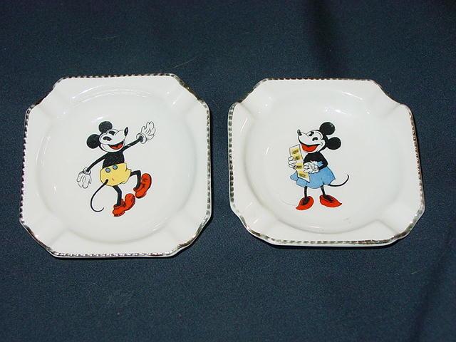 Mickey ashtrays