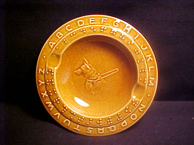 Braille ashtray