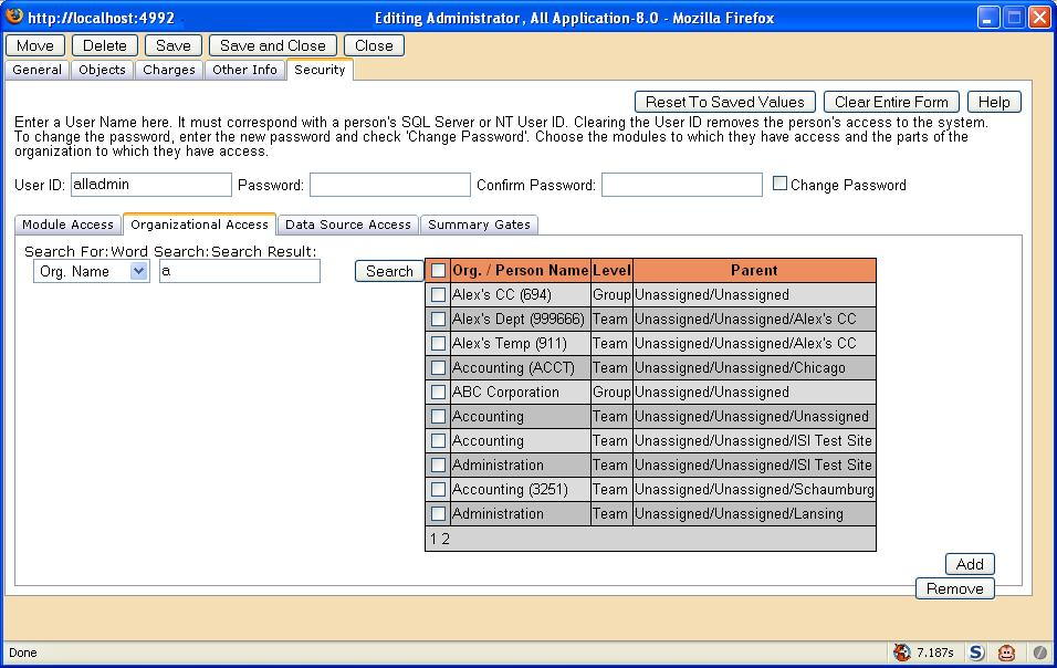 Search Control Sample on the rest of the Page